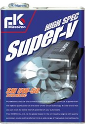 High Spec Super V consists of 100% chemical synthesis oil containing a copious amount of PAO.   This engine oil has a high degree of viscosity covering a wide range of temperature. Excellent lubrication, stable thermal oxidation.  Suitable for: High performance cars Sports Cars (turbo, NA) European Cars Rotary Engine Cars