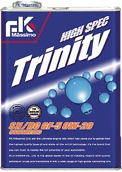 High Spec Trinity is a delightful blend of chemical synthesis oil and hydrocracking oil, giving a similar degree of performance as 100% chemical synthesis oil.  The excellent low-temperature fluidity reduces damage caused by starting engines.  Suitable for: 5W-20 viscosity cars.