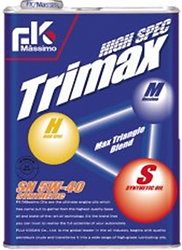 High Spec Trimax is a delightful blend of chemical synthesis oil and hydrocracking oil, giving a   similar degree of performance as 100% chemical synthesis oil.  This engine oil fully protects engines from harsh conditions.  Suitable for: High performance cars Sports Cars (turbo, NA) European Cars Rotary Engine Cars