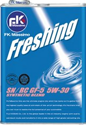 Freshing consists of hydrocracking base oil which is as efficient as chemical synthesis oil.   This thin film of oil contributes to the protection of engines and the best fuel consumption.  The excellent low-temperature is guaranteed.   Suitable for: High performance cars Fuel saving engine cars