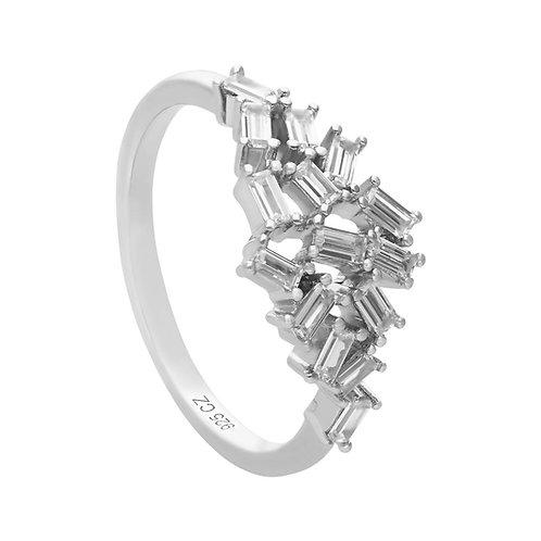 Baguette Zirconia Scatter Ring