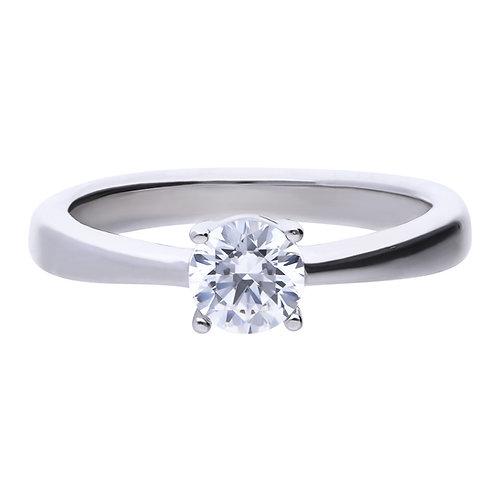 4 Claw Set 0.75ct Zirconia Ring
