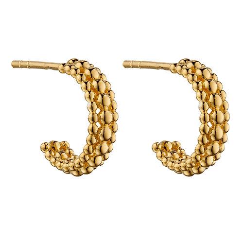 Multi Bead 3/4 Hoop Earrings