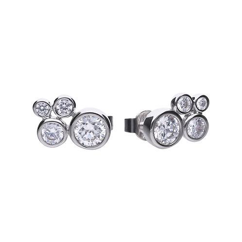 Bubble Style Zirconia Stud Earrings