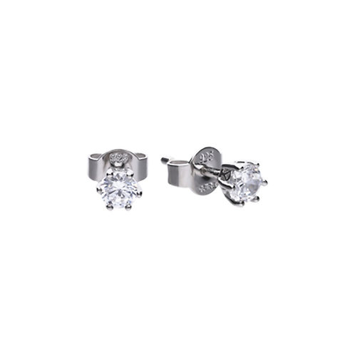 Claw Set 0.5ct Zirconia Solitaire Earrings