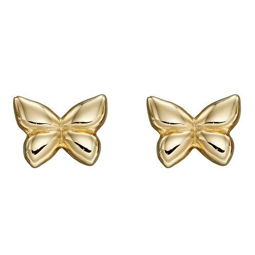 9ct Yellow Gold Butterfly Stud Earrings