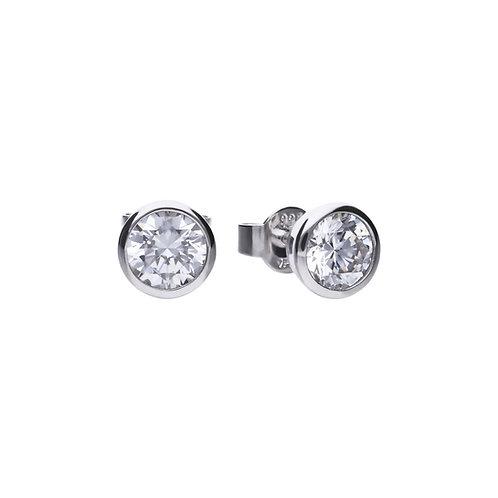 Bezel Set 1.5ct Zirconia Solitaire Stud Earrings