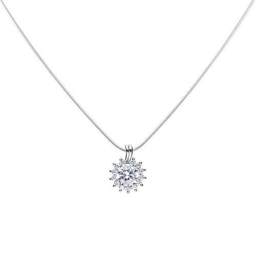 Sun Shaped Zirconia Necklace
