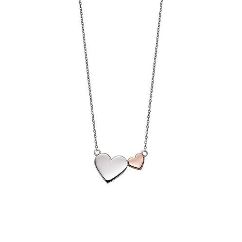 Fiorelli Mixed Metal Double Heart Necklace