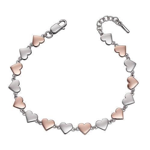 Fiorelli Mixed Metal Heart Bracelet