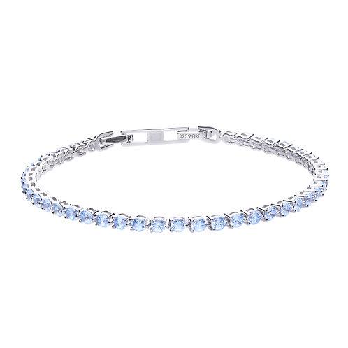 Blue Zirconia Tennis Bracelet