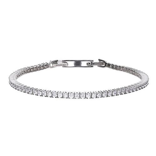 Fine Claw Set Zirconia Tennis Bracelet