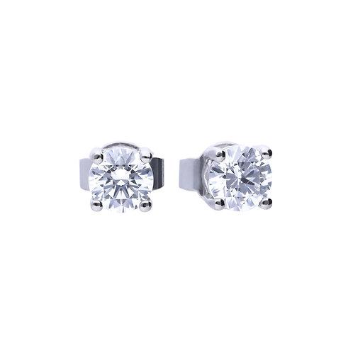 4 Claw Set 0.5ct Zirconia Stud Earrings