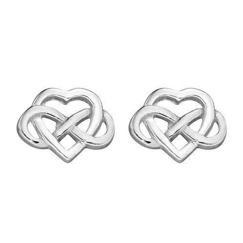 Celtic Knot Heart Stud Earrings
