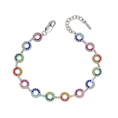 Fiorelli Rainbow Crystal Open Circle Bracelet