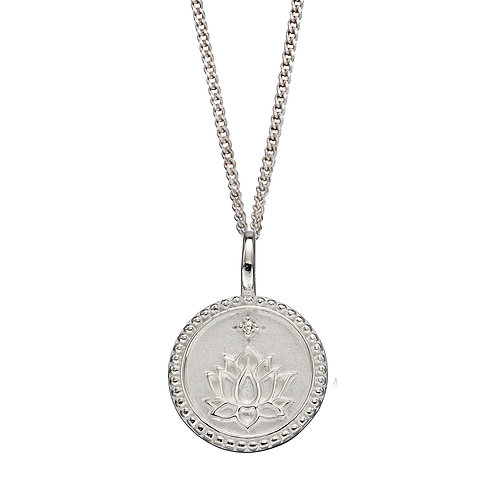 Peace and Wellbeing Empowerment Necklace with Cubic Zirconia