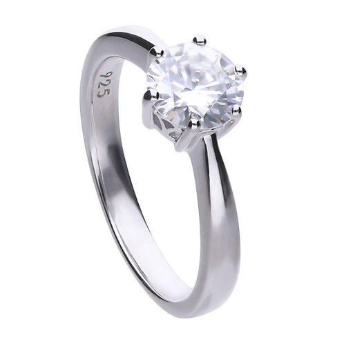 Claw Set 1.5ct Zirconia Solitaire Ring