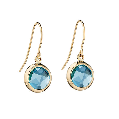 9ct Yellow Gold Earrings with Semi-Precious Stone