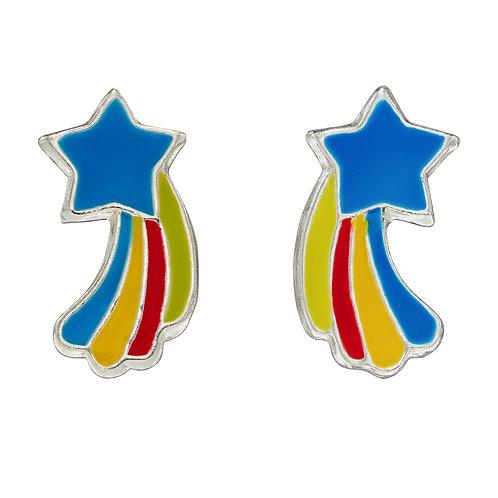 Colourful Shooting Star Stud Earrings