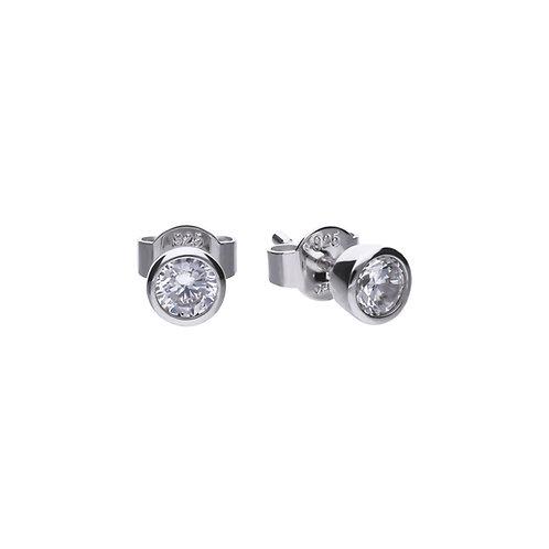 Bezel Set 0.5ct Zirconia Solitaire Stud Earrings