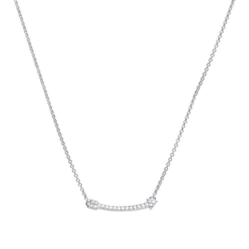 Arrow Shaped Zirconia Necklace