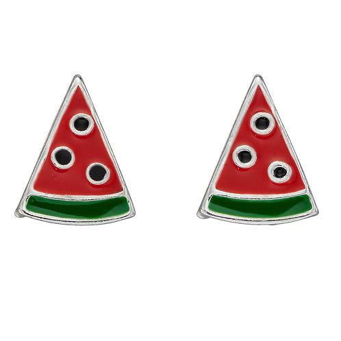 Watermelon Slice Stud Earrings