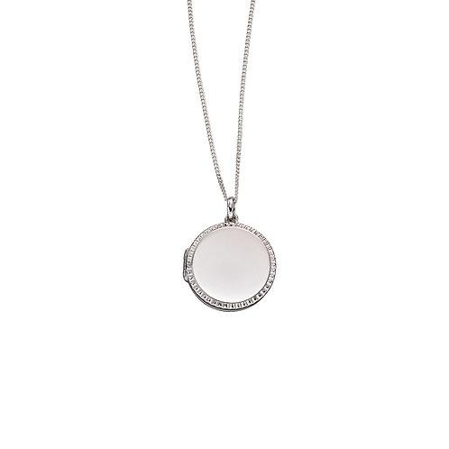 Fiorelli Round Diamond Cut Locket
