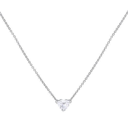 Heart Shaped Zirconia Necklace