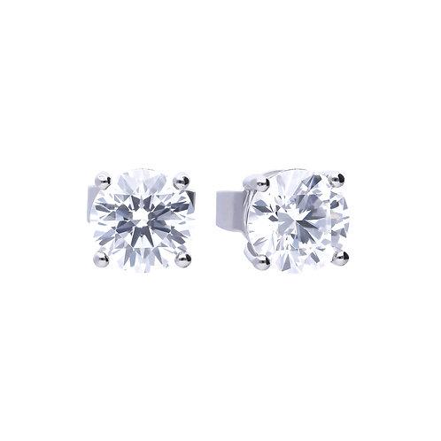 4 Claw Set 1ct Zirconia Stud Earrings