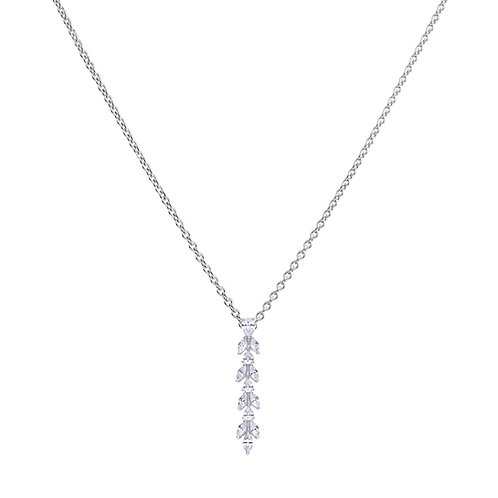 Zirconia Vine Drop Necklace