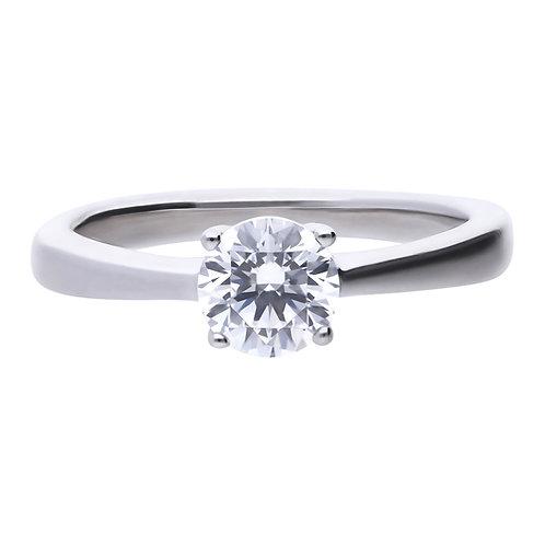Diamonfire 4 Claw Set 1ct Zirconia Ring