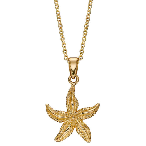 9ct Yellow Gold Starfish Necklace
