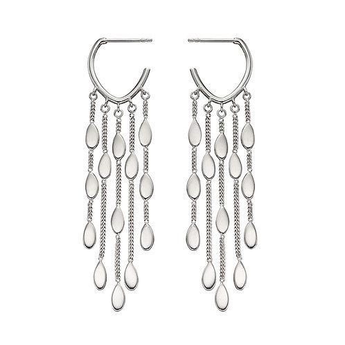 Fiorelli Oval Drop Waterfall Hoop Earrings