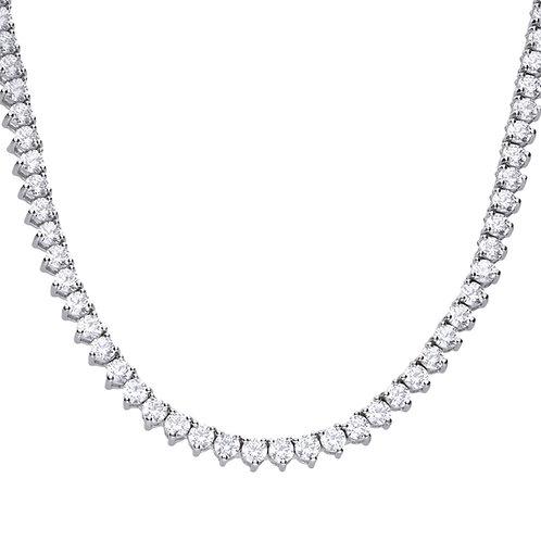 Claw Set Zirconia Tennis Necklace