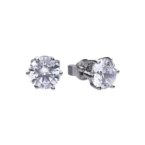 Claw Set 3ct Zirconia Solitaire Earrings
