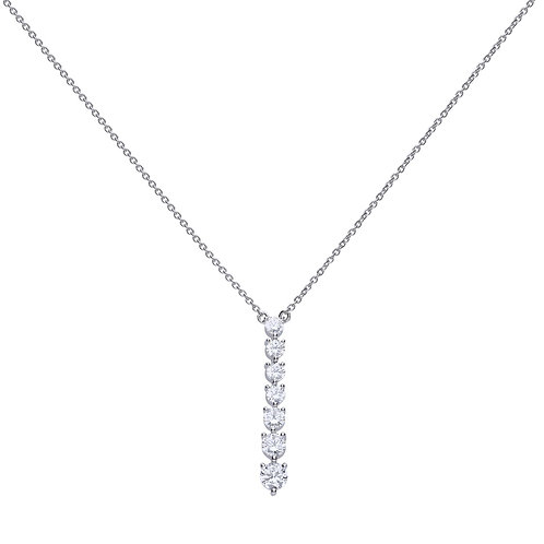 Claw Set Zirconia Drop Necklace