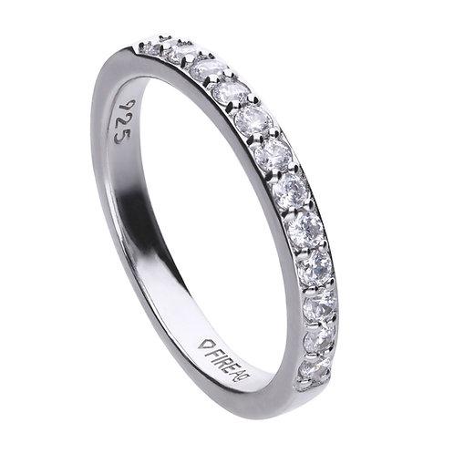 Zirconia Half Eternity Band Ring