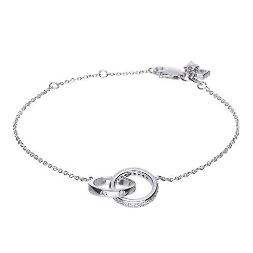 Fine Interlocking Rings Bracelet