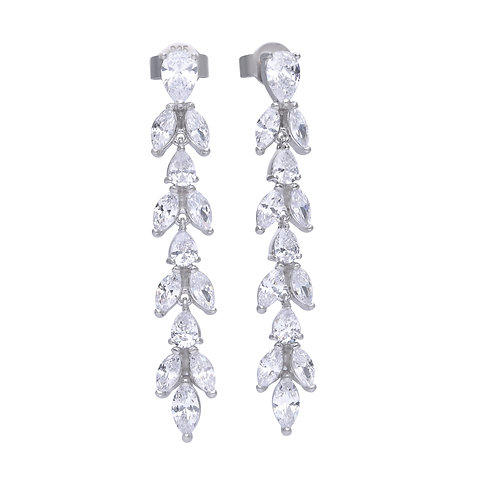 Zirconia Vine Drop Earrings