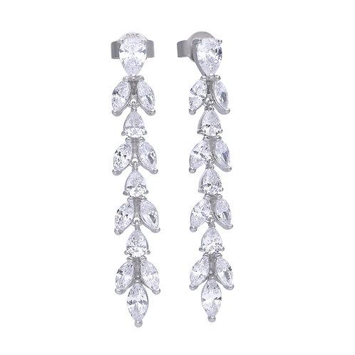 Zirconia Vine Drop Earrings
