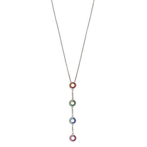 Fiorelli Rainbow Crystal Open Circle Necklace