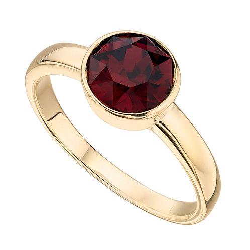 Gold Plated Crystal by Swarovski Birthstone Ring