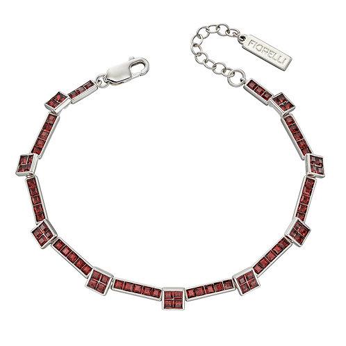 Fiorelli Burgundy Crystal Set Tennis Bracelet