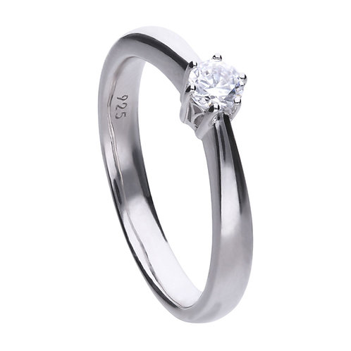 Claw Set 0.25ct Zirconia Solitaire Ring