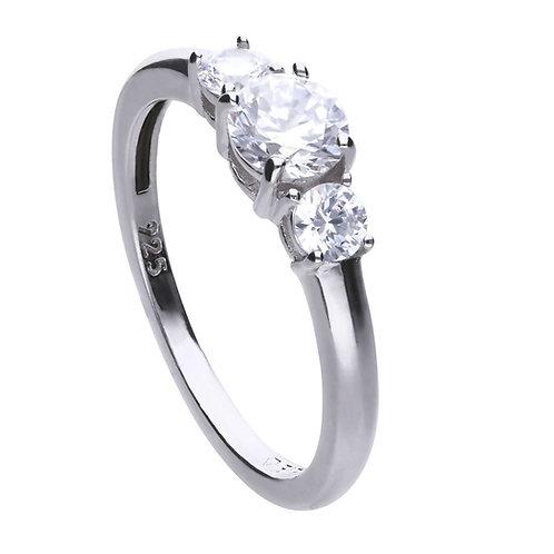 Triple Zirconia Stone Ring