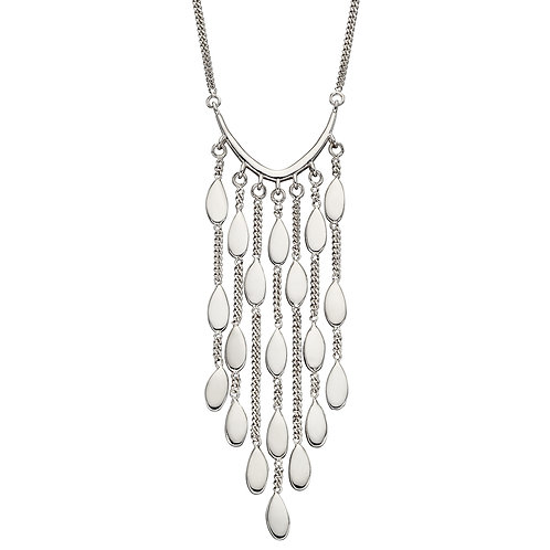 Fiorelli Oval Drop Waterfall Necklace