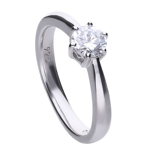 Claw Set 0.75ct Zirconia Solitaire Ring