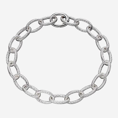 Textured Link Charm Carrier Bracelet