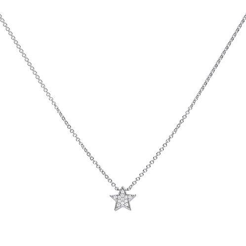 Star Shaped Zirconia Necklace