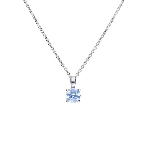 Blue Zirconia Necklace